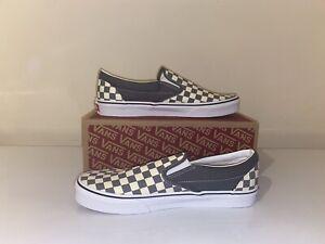 VANS- Classic Slip-On (Checkerboard) Pewtertrwht (Size Uk 10.5)