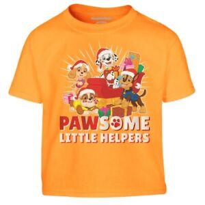 Paw Patrol Christmas Pawsome Little Helpers Santa Kinder Jungen T-Shirt