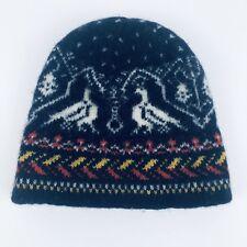 Geiger Unisex Kid Beanie Pure Wool Knit Ski Winter Cap Hat Navy Red Yellow White