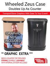 CASE Zeus Wheeled Portable Storage Exhibition Pop Up Case Counter Graphics Tube