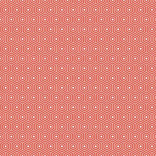 Lazy Day Hexagon Red by Lori Whitlock for Riley Blake, 1/2 yard cotton fabric