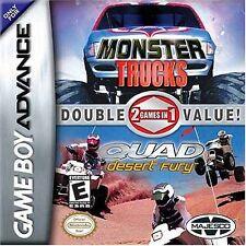 2 Games In 1 Double Value: Monster Trucks & Quad Desert Fury (Game Boy ADVANCE)