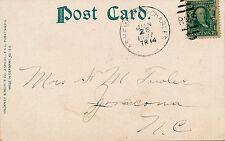 ASHEVILLE & CHARLES R.P.O. RAILROAD CANCEL. 1907. PACK SQUARE, ASHEVILLE, N.C.