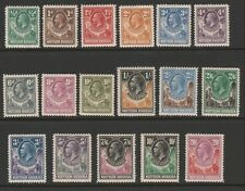 Northern Rhodesia 1925 George V Complete set SG 1-17 Mint.