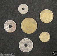 FRANCE Coins Set of 6 Pieces 1931 Used