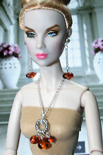 "Unique by Grazia/Schmuckset/pour 16"" dolls/tulabelle, Fashion Royalty/Ambre"