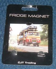 Fridge Magnet Morris Carrimore Car transporter picture by artist Mike Jeffries