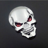 Auto Car3D Metal Skull Bone Decor Emblem Badge Decal Sticker Motorcycle Orament
