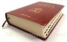 La Biblia- Libro del Pueblo de Dios con Covertor Simil Piel Con Uñeros- Catolica