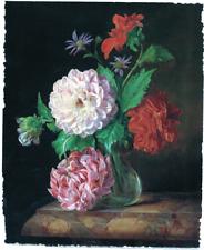 FLOWERS CARNATION BOUQUET FLORAL ARRANGEMENT LIMITED EDITION ART PRINT 24x29