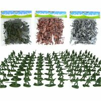 Set of 100Pcs Medieval Military Knights Warriors Kids Toy Soldiers Figure Model