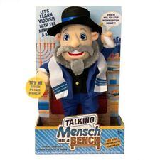 Talking Mensch On A Bench – 12″ Doll Mensch on a Bench Nip