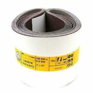Sanding Belts KLINGSPOR 100 x 915mm 4'' x 36'' Belt Sanders  Made in Germany