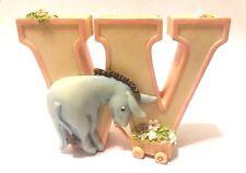 "Disney WINNIE THE POOH Michel EEYORE 3"" Ceramic ""W"" Hanging Letter! FREE S/H!"