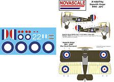 AFC Sopwith Snipe WWI Mini-Set Decals 1/48 Scale N48074a
