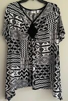 CATO Womens Plus Size 18/20W Top Tee Tunic Blouse Handkerchief Hem Stretchy New