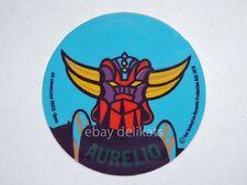ADESIVO Sticker card vintage UFO ROBOT GOLDRAKE 1978 nome AURELIO