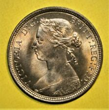 Great Britain 1/2 Penny 1890 Brilliant Uncirculated Coin - Queen Victoria