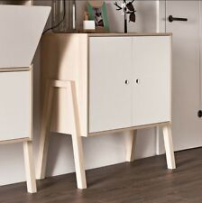 Small Retro Cupboard White Vintage Furniture Wooden Sideboard Storage Cabinet