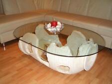 Wohnzimmertisch Ovaler Glastisch Amphorentisch Vasentisch Couchtisch Römertisch