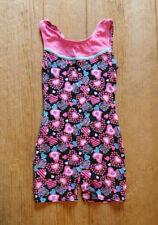 Moret Active Girl Gymnastics Leotard / Size 12/14 / Black Pink Hearts