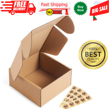 50 Pck Cardboard Small Shipping Boxes Corrugated Mailers 4x4x2 Oyster White