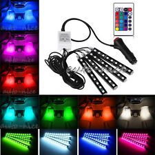 Car Interior Under Dash Footwell LED Lighting Kit Full Color Glow Accent Lights