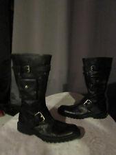 bottes accessoire cuir noir pointure 37