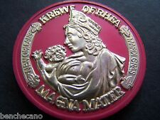 1976 Rhea NEW ORLEANS FRENCH QUARTER Gold on Red Dual Mardi Gras Doubloon