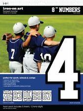 SEI 8-Inch Iron-On Team Pack Athletic Number Transfers, White, 5-Sheet , New, Fr