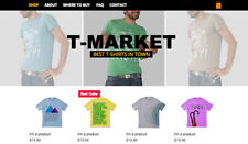Professional Custom Products T-Shirts Online Store Website,Fully Responsive