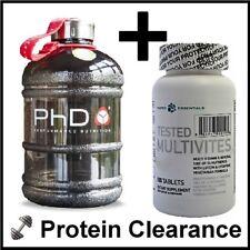 Tested Multivitamins Multivities 100 Tabs + PhD 1.9 Water Bottle Jug BBE 05/16