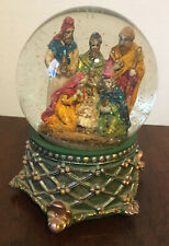 Snow Globe Christmas Musical Nativity Scene Plays Away In The Manger 3 Wise Men