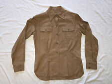 WWII WOMENS US ARMY WAC KHAKI SHIRT, BLOUSE WITH LAUNDRY ID & NECK TIE, NAMED