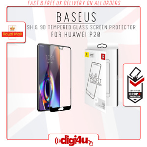 Genuine Baseus For Huawei P20 Pro 6D Full Curve Tempered Glass Screen Protector