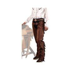 Chaps western con frange in pelle scamosciata articolo artigianale