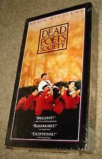 DEAD POETS SOCIETY VHS, NEW AND SEALED, RARE, WITH OSCAR WINNER ROBIN WILLIAMS
