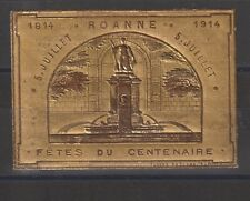 French Poster Stamp Roanne 1914 Centenary Fete