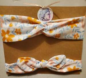 Mommy and Daughter Headbands White