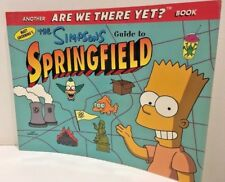 Simpsons Guide to Springfield Matt Groening Paperback 1998 1st Edition FREE POST