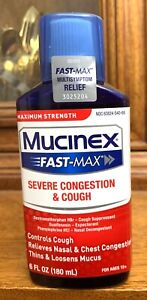 Mucinex Fast-Max Maximum Strength Severe Congestion & Cough Fast Acting 01/2022