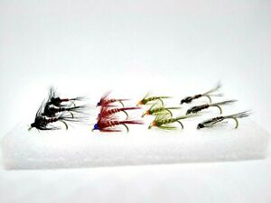 12 Cruncher Nymphs Set Fly Fishing Still Water Rainbow Trout Flies Selection