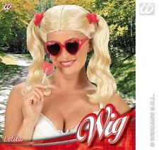 SEXY Parrucca Bionda con i cavetti di raccordo Scuola Ragazza Discoteca Porn Star Costume