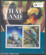 MICRONESIA  2013  WILDLIFE OF THAILAND DUGONG & PARAKEET SOUVENIR SHEET  MINT NH