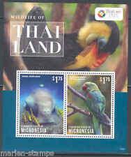 MICRONESIA  2013  WILDLIFE OF THAILAND DUGONG & PARAKEET SOUVENIR SHEET  MINT NH