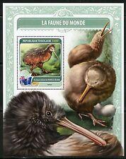 TOGO  2016 FAUNE OF THE WORLD BIRDS FROM NEW ZEALAND  SOUVENIR  SHEET MINT NH