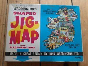 WADDINGTONS VINTAGE SHAPED JIG MAP 559 IRELAND