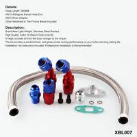 Turbo Oil Feed Line Oil Return Drain Line Kit For T3/T4 T70 T66 1/8 NPT Adaptor