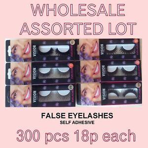 wholesale clearance lot false eyelashes thick & bushy styles 300 pcs 18p each