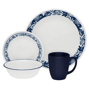 True Blue Corelle Classic 16-Piece Dinnerware Set